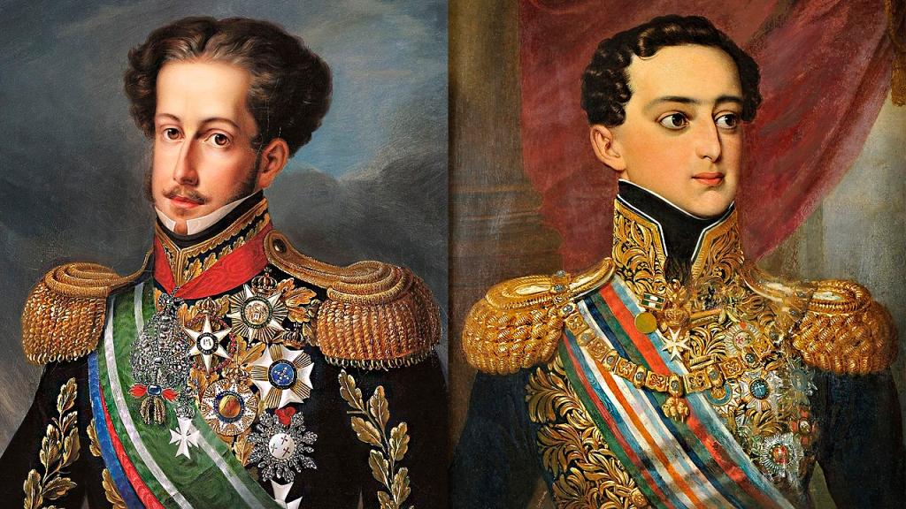 Dom Pedro I e seu irmão Dom Miguel