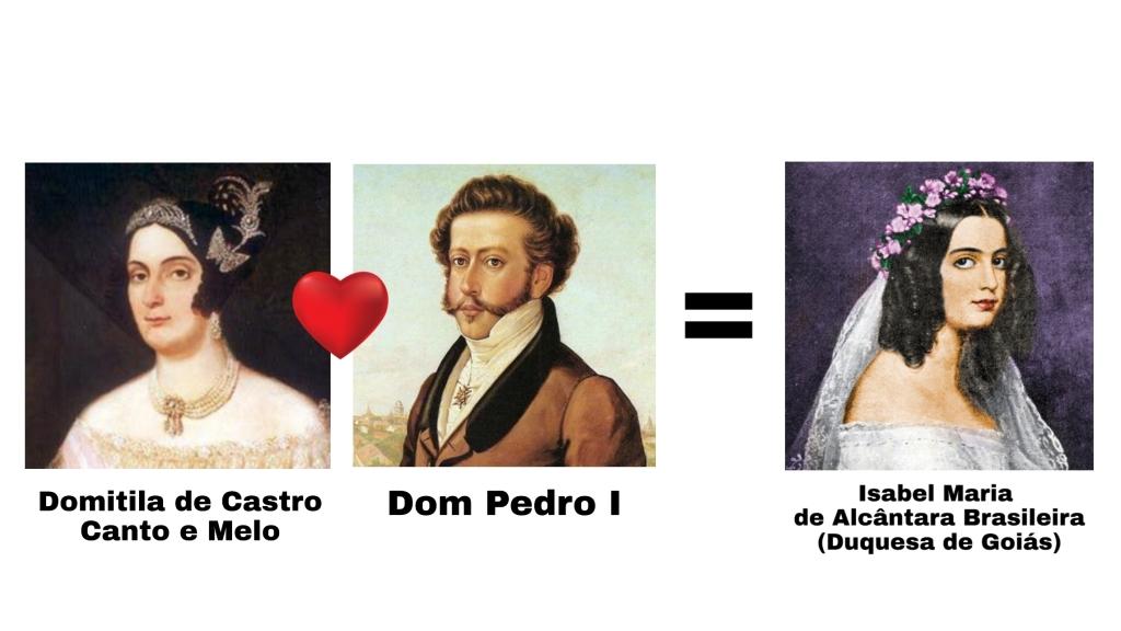 Dom Pedro I teve uma filha com sua amante Domitila, chamada Isabel Maria, a Duquesa de Goiás.