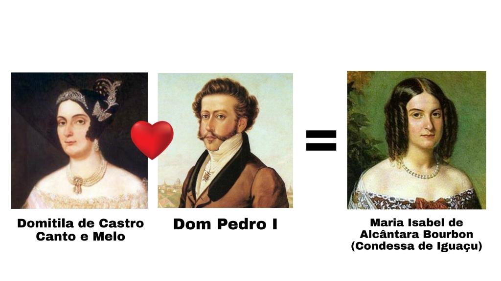 Dom Pedro I teve uma filha com sua amante Domitila, chamada Maria Isabel, Condessa de Iguaçu.