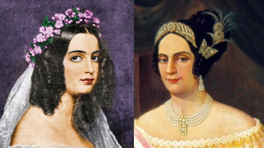 Duquesa de Goiás e sua mãe Domitila de Castro, Marquesa de Santos.