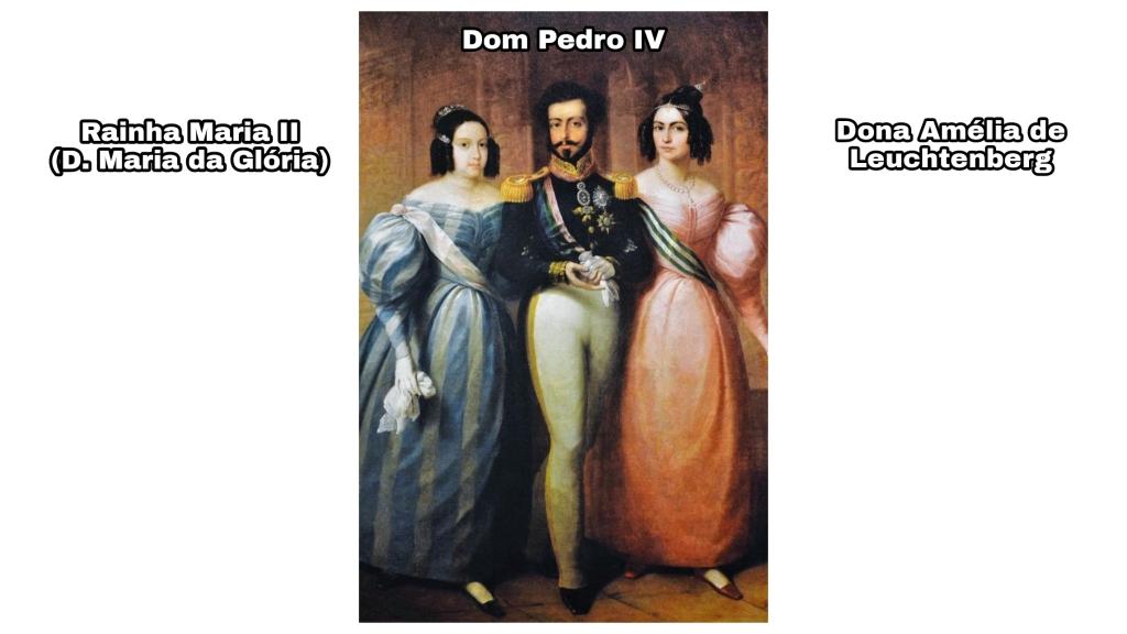 A família real portuguesa.