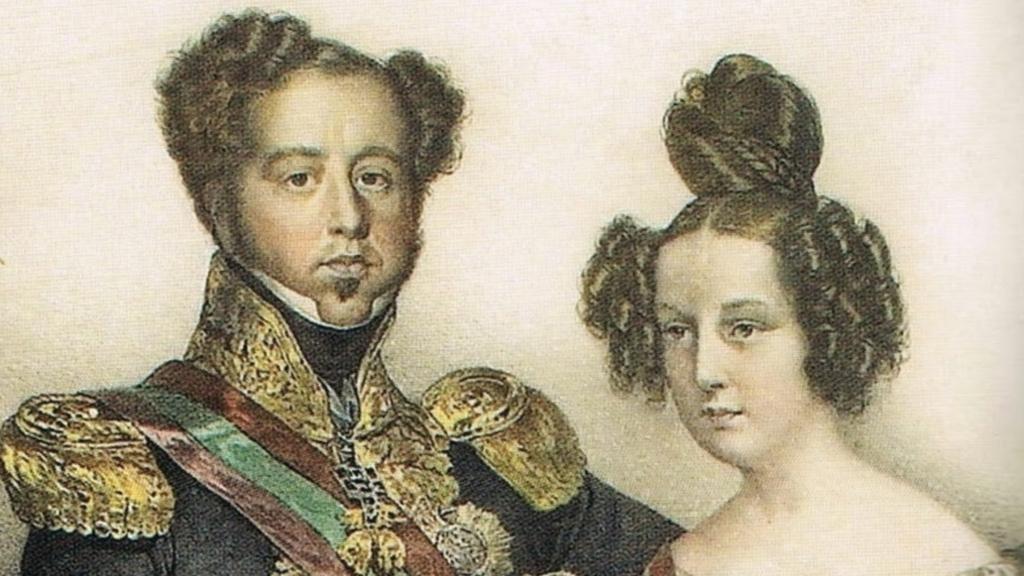 constitucional e a família real. Dom Pedro IV e sua filha Rainha Maria II