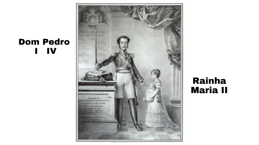 Dom Pedro IV e sua filha Rainha Maria II
