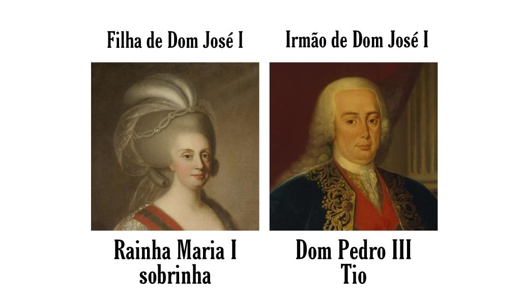 Rainha Maria II e seu esposo, o Rei Dom Pedro III
