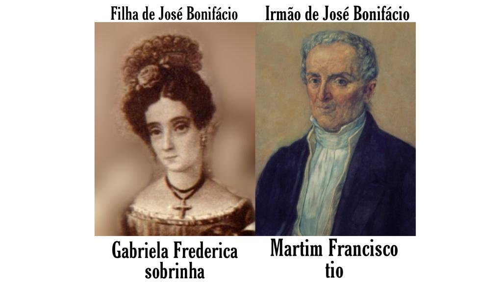 Gabriela Frederica Ribeiro de Andrada e seu esposo, Martim Francisco Ribeiro de Andrada