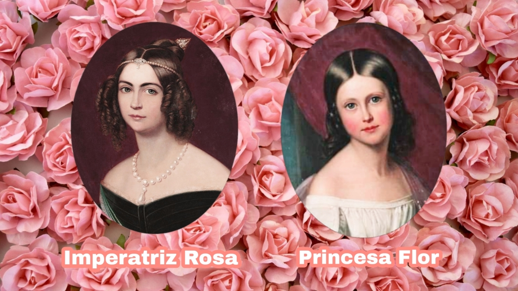 D. Amélia e a Princesa Maria Amélia de Bragança.