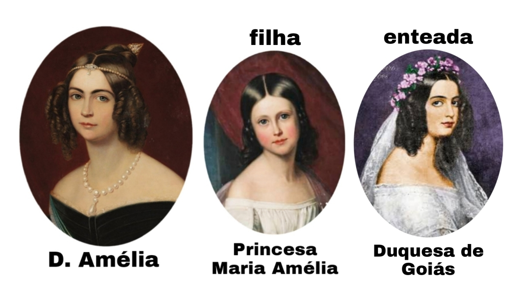 Dona Amélia, sua filha e sua enteada.